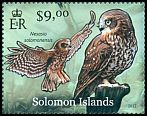 Cl: Fearful Owl (Nesasio solomonensis)(Endemic or near-endemic) (not catalogued)  (2012)  [8/7]