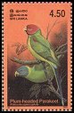 Cl: Plum-headed Parakeet (Psittacula cyanocephala) SG 1667 (2003)