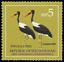Cl: Saddle-billed Stork (Ephippiorhynchus senegalensis)(I do not have this stamp)  new (2013)