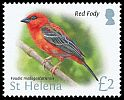 Cl: Red Fody (Foudia madagascariensis)(Repeat for this country)  SG 1245 (2015)