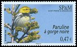 Cl: Black-throated Green Warbler (Dendroica virens) <<Paruline &agrave; gorge noire>>  SG 1061 (2008)