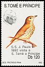 Cl: Song Thrush (Turdus philomelos)(Out of range) (I do not have this stamp) (not catalogued)  (1992)