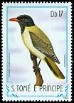 Cl: Sao Tome Oriole (Oriolus crassirostris) <<Camussela>> (not catalogued)  (1983)