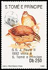 Cl: Common Quail (Coturnix coturnix)(Out of range) (I do not have this stamp) (not catalogued)  (1992)