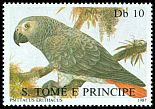 Cl: Grey Parrot (Psittacus erithacus)(Repeat for this country) (not catalogued)  (1987)