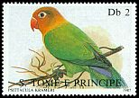 Cl: Fischer's Lovebird (Agapornis fischeri)(Out of range) (not catalogued)  (1987)