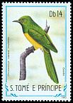 Cl: African Emerald Cuckoo (Chrysococcyx cupreus insularum) <<Ossobo>> (not catalogued)  (1983)