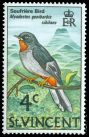 Cl: Rufous-throated Solitaire (Myadestes genibarbis sibilans) SG 289 (1970) 20