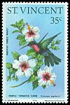 Cl: Purple-throated Carib (Eulampis jugularis)(Repeat for this country)  SG 489 (1976)