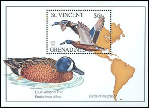 Cl: Blue-winged Teal (Anas discors) SG 2193a (1993)