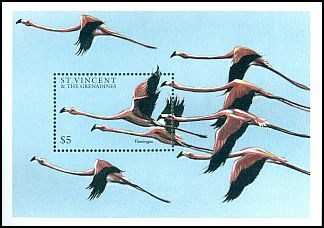 Cl: Caribbean Flamingo (Phoenicopterus ruber)(Repeat for this country)  SG 3670a (1997)