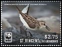 Cl: Semipalmated Sandpiper (Calidris pusilla)(Repeat for this country) (I do not have this stamp)  SG 6041c (2014)