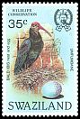 Cl: Southern Bald Ibis (Geronticus calvus) <<Umfumbane>> (Repeat for this country)  SG 450 (1984)