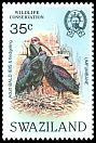 Cl: Southern Bald Ibis (Geronticus calvus) <<Umfumbane>> (Repeat for this country)  SG 452 (1984)