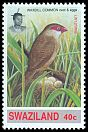 Cl: Common Waxbill (Estrilda astrild) <<Lintjiyane>> (Repeat for this country)  SG 631 (1993)