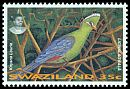 Cl: Knysna Turaco (Tauraco corythaix) <<Ligwalagwala>> (Repeat for this country)  SG 654 (1995)