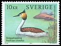 Cl: Great Crested Grebe (Podiceps cristatus) <<Skaggdopping>>  SG 2298 (2003) 240