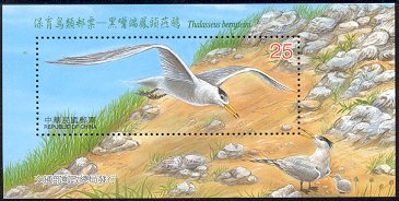 Cl: Chinese Crested Tern (Sterna bernsteini)(Endemic or near-endemic)  SG 2802b (2002)  [1/16]