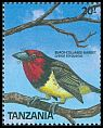 Cl: Black-collared Barbet (Lybius torquatus) SG 622 (1989) 75
