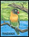 Cl: Yellow-collared Lovebird (Agapornis personatus) SG 631 (1989) 75