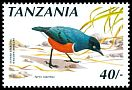 Cl: Superb Starling (Lamprotornis superbus) <<Nakawa-mweupe>>  SG 816a (1990)