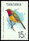 Cl: Four-coloured Bushshrike (Telophorus viridis) SG 1355 (1992) 40