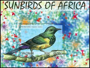 Cl: Nile Valley Sunbird (Hedydipna metallica)(Out of range and no other stamp)  new (2013)  [9/6]