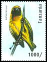 Cl: Lesser Masked-Weaver (Ploceus intermedius)(Repeat for this country) (I do not have this stamp)  new (2012)