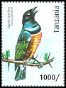Cl: Superb Starling (Lamprotornis superbus)(Repeat for this country) (I do not have this stamp)  new (2012)