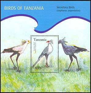 Cl: Secretarybird (Sagittarius serpentarius)(Repeat for this country)  new (2012)  [8/15]