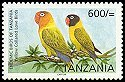 Cl: Yellow-collared Lovebird (Agapornis personatus)(Endemic or near-endemic)  SG 2527 (2006)
