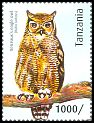 Cl: Verreaux's Eagle-Owl (Bubo lacteus)(I do not have this stamp)  new (2012)