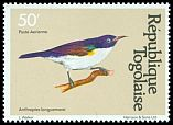 Cl: Western Violet-backed Sunbird (Anthreptes longuemarei) SG 1533 (1981) 35