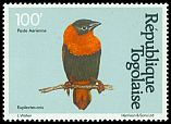 Cl: Orange Bishop (Euplectes franciscanus) SG 1534 (1981) 55