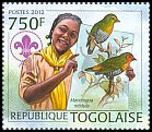 Cl: Green-backed Twinspot (Mandingoa nitidula)(I do not have this stamp)  new (2012)