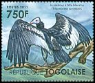 Cl: White-headed Vulture (Trigonoceps occipitalis)(I do not have this stamp)  new (2011)
