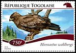 Cl: Wahlberg's Eagle (Aquila wahlbergi)(I do not have this stamp)  new (2014)