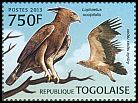 Cl: Long-crested Eagle (Lophaetus occipitalis)(I do not have this stamp)  new (2013)