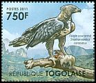 Cl: Crowned Hawk-Eagle (Stephanoaetus coronatus)(I do not have this stamp)  new (2011)