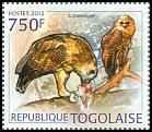Cl: Pel's Fishing-Owl (Scotopelia peli)(Repeat for this country) (I do not have this stamp)  new (2012)