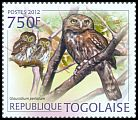 Cl: Pearl-spotted Owlet (Glaucidium perlatum)(Repeat for this country) (I do not have this stamp)  new (2012)