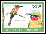 Cl: Red-throated Bee-eater (Merops bulocki)(Repeat for this country)  new (2010)  [6/58]