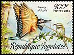 Cl: White-throated Bee-eater (Merops albicollis)(I do not have this stamp)  new (2016)