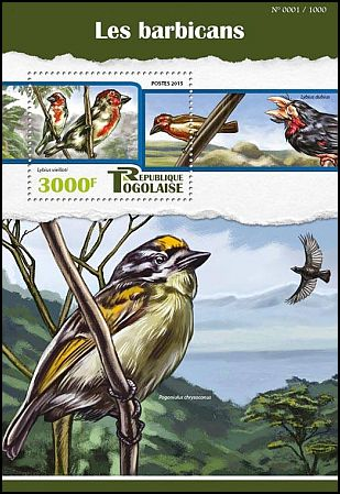 Cl: Vieillot's Barbet (Lybius vieilloti)(I do not have this stamp)  new (2015)