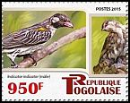 Cl: Greater Honeyguide (Indicator indicator)(Repeat for this country) (I do not have this stamp)  new (2015)