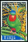 Cl: Blue-crowned Lorikeet (Vini australis) <<Henga>>  SG 1432 (1998) 40