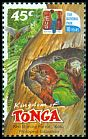 Cl: Red Shining-Parrot (Prosopeia tabuensis) <<Koki>> (Endemic or near-endemic)  SG 1571 (2002)