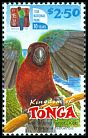 Cl: Red Shining-Parrot (Prosopeia tabuensis) <<Koki>> (Endemic or near-endemic)  SG 1574 (2002)
