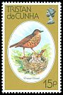 Cl: Tristan Thrush (Nesocichla eremita)(Endemic or near-endemic)  SG 257 (1979) 45