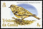 Cl: Nightingale Finch (Nesospiza acunhae)(Endemic or near-endemic)  SG 836 (2005)